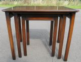Nest of Three Mahogany Coffee Tables by Rackstraw